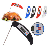 Folding Digital LCD Cooking Food Kitchen Probe Liquid Meats Thermometer BBQ Kitchen Tool Emperature Household