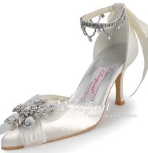 Wedding shoes satin custom made high heel pumps bridal shoes ladies evening party shoes Pumps