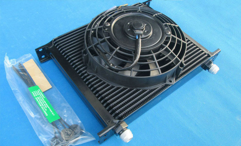 Brand new FOR Universal 30 Row 10 AN Black Transmission Oil Cooler 7 Electric Fan SUBARU