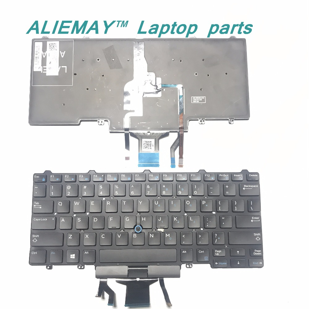 Brand new laptop keyboard for for <font><b>Dell</b></font> Latitude E5450 E7450 E7470 E7480 <font><b>7490</b></font> 5470 5480 Black backlit Trackpoint US keyboard image