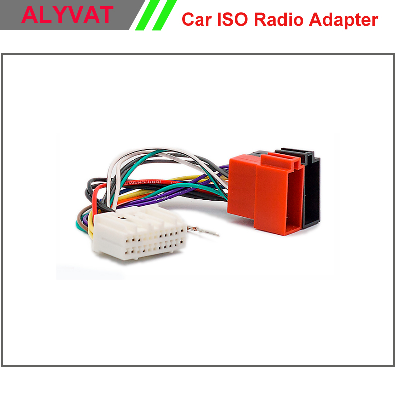 Car Iso Stereo Adapter Connector For Chrysler 2001 Onwards