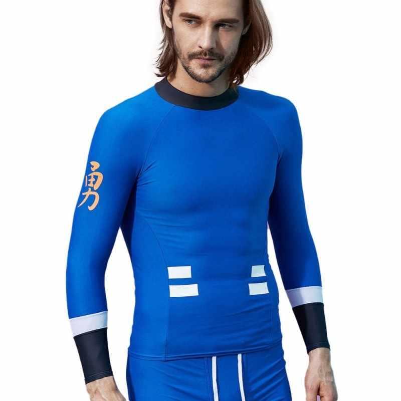 c6489e40b1e7d UV Protect Rushguards Men Swimming Surf Beach T Shirts Long Sleeve Mens  Diving Wetsuits Surfing Sailing
