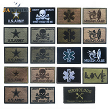 Series Embroidery Patch Embroidered Patches Military Tactical Shoulder Armband Fabric Stickers Badges Backpack Badge Skeleton embroidery badge bounty hunter boba fett bantha skull new embroideried badges military tactical armband patch patches for jacket