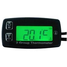 Runleader RL-TM004 Digital 2 TEMP METER thermometer temperature meter for Dirt Pit Bike Engine Motor Car temperature meter oil все цены