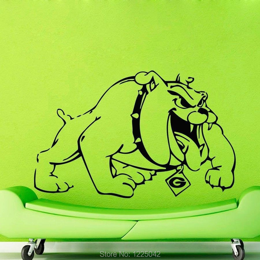 boxer dog Bulldog Wall Decals Vinyl Home Decal Wall Sticker Wall Murals Wall Decor Home Decoration