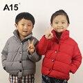A15 bebê meninas casacos de inverno crianças casacos de inverno jaqueta crianças roupas de inverno menino jaqueta menino 2017 parkas casaco jaqueta tamanho 2 8 5 3 4 7