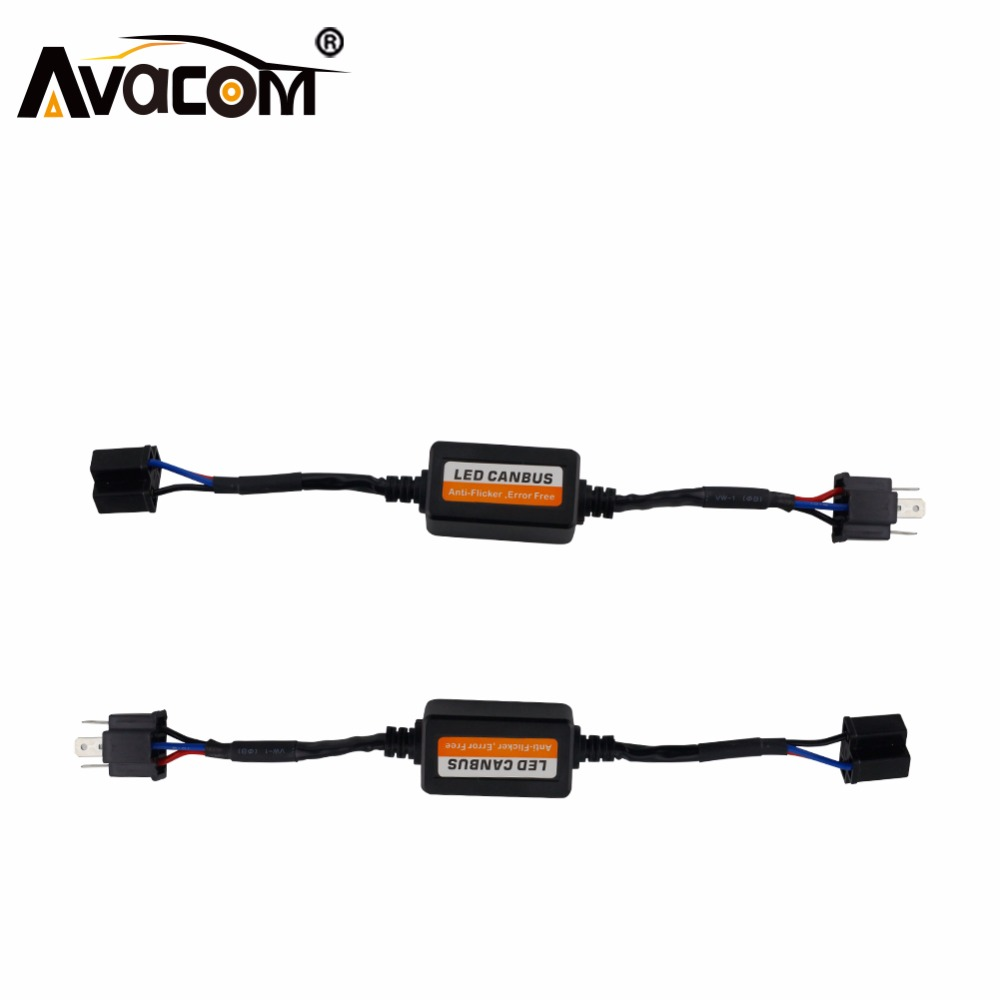 Avacom  Error Free Canbus Decoder for LED Car Bulb Car Headlight H4 H7 H11 H13 9005 9006 Car Canbus Error Warning Canceller waterproof 2pcs 45w 9000lm d4s d4r led headlight p6 canbus free error led bulb conversation kit 6000k