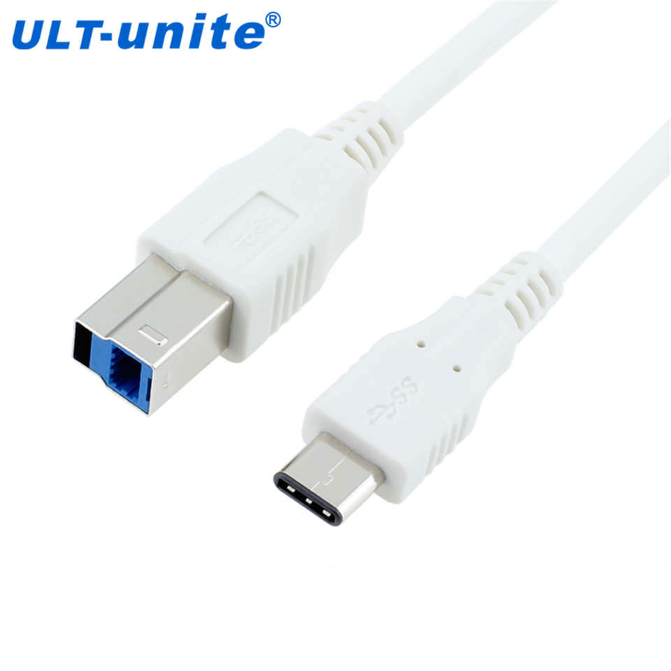ULT-unite USB-C White USB 3.1Type-C Male Connector to USB 3.0 Standard B Male Data Cable for Apple Macbook & Laptop rinzo c 00060 tt334 white