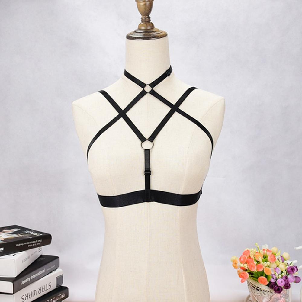 Harness Sexy Strap Bra Elastic Belt Clubwear Female Cupless Chest Bandage Adjustable S-XL Erotic Underwear Lingerie For Women