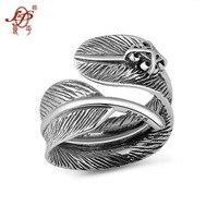 L & P Glück Feder Ring für paar 925 Sterling Splitter Schmuck Ring Für Frauen Vintage Edlen Schmuck Großhandel
