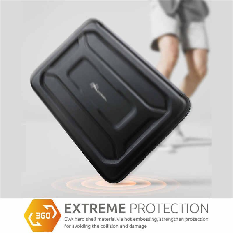 Nacuwa bolsa protetora para laptop, bolsa à prova de choque de 360 graus para computador de 13 a 13.3 polegadas e 15 polegadas