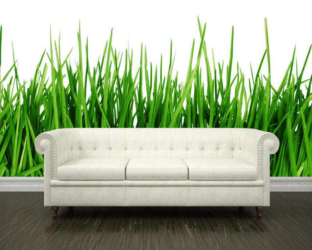 Modern photo wallpaper, Green grass close up, natural landscape mural for living room bedroom sofa background wall PVC custom green forest trees natural landscape mural for living room bedroom tv backdrop of modern 3d vinyl wallpaper murals