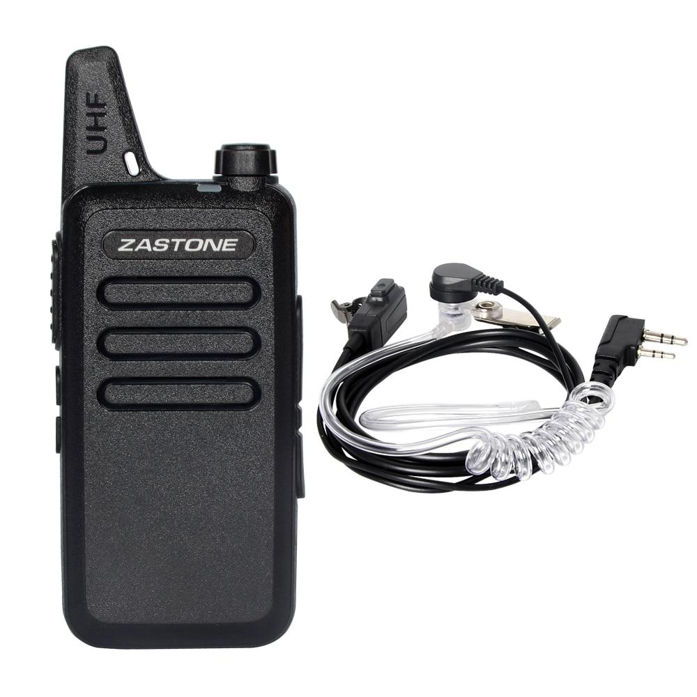 Zastone X6 Mini Walkie Talkie Zastone UHF Handheld Long Range Ham Radio Small Portable Ham Radio Communicator Portable Radio
