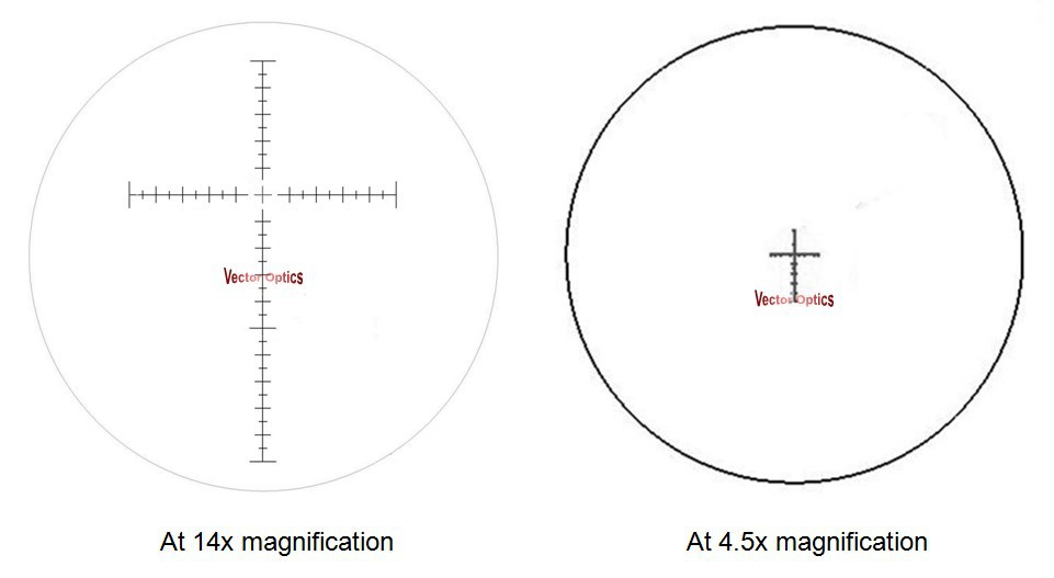 Óptica de vectores Táctica 4.5-14x44 FFP Disparador con - Caza - foto 6