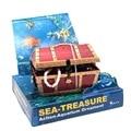 Air Action Sea Treasure Chest Aerating Aquarium Ornaments Decorations Red