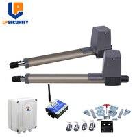 LPSECURITY GSM automatische schaukel tor betreiber Gewichtung bis 300KG DOPPEL SCHAUKEL TORE