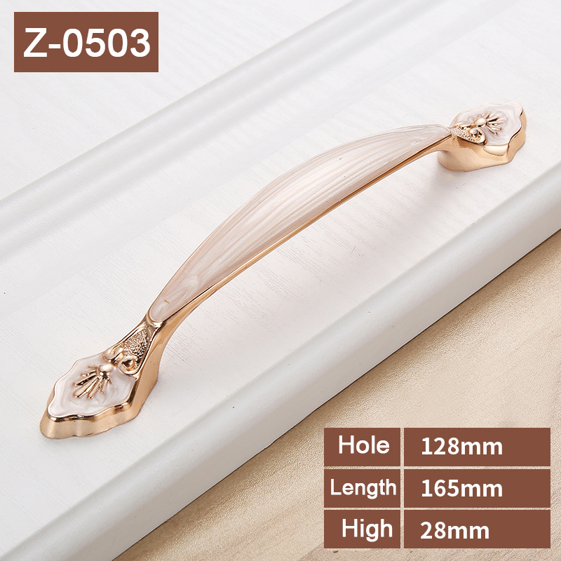 white Amber Zinc Alloy Hole distance 96/128mm for furniture door cabinet pull handle cupboard door knob drawer handlesZ-0504 european style zinc alloy door cupboard drawer handle knob white rose gold size s