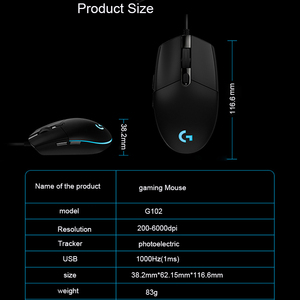 Image 4 - Logitech G102/G102 Second Generation Wired Mouse for Windows 10/8/7 Game Mouse with 6000dpi Optical RGB lights for PC /Desktop