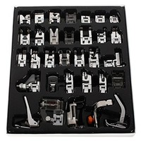 32pcs Domestic Sewing Machine Presser Foot Feet Kit Set For Brother Singer Janome Sewing Tools Accessory
