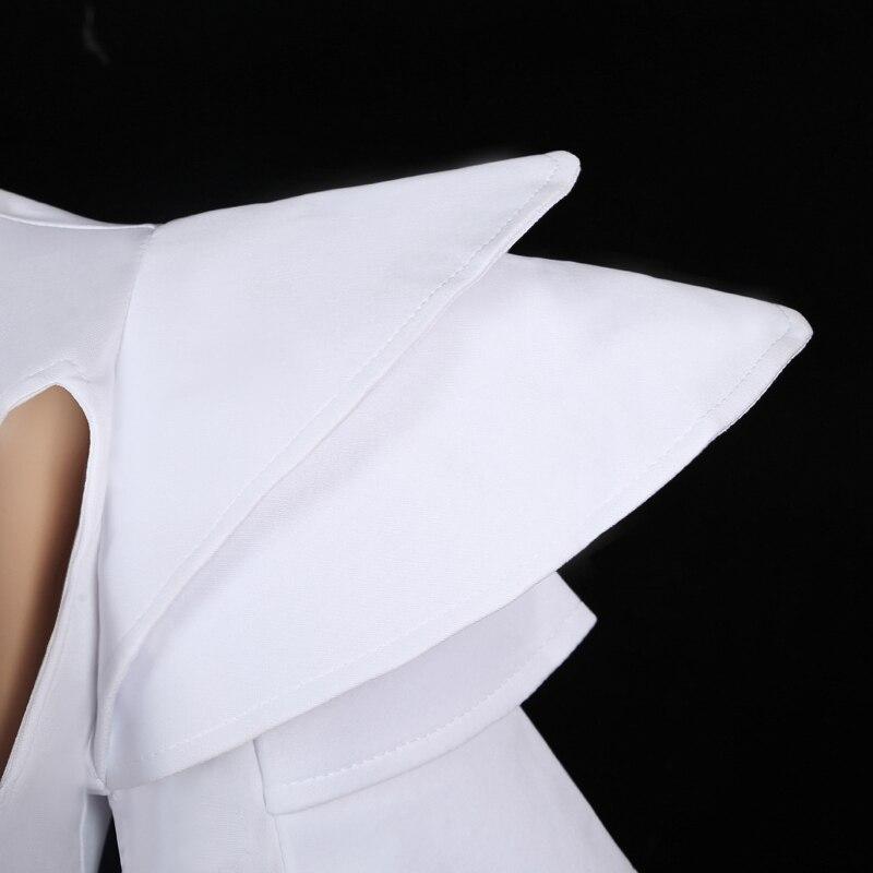 Women White Bodysuit Jazz Dance Costumes Bar Dj Dancers Sexy Nightclub DS Singer Hiphop Clothes Rhinestone Outfit Stage Wear