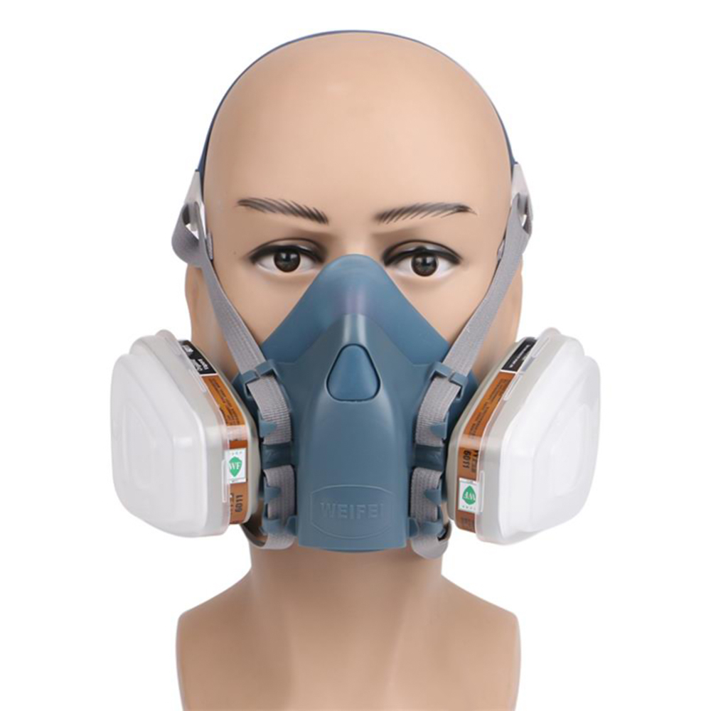 7 In 1 Suit Paint Spraying Decoration Respirator Dust Face Mask Construction Tools Formaldehyde Haze Smog Protection Mask