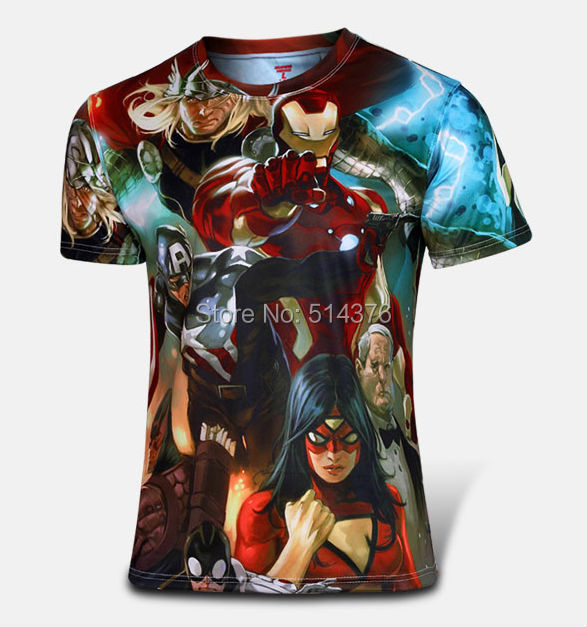 Marvel America Super Hero The Avengers Cycling Jersey Transformers