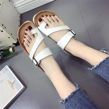 купить 35-44 Plus Size Gladiator Women Sandals 2019 Fashion Bohemia Beach Casual Flat Women Summer Shoes Female Ladies Flip Flops ADG38 по цене 1156.25 рублей