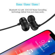 Wavefun Flex Bluetooth Earphone Sports activities Wi-fi Headphones Stereo Magnetic Bluetooth Headset for Cellphone Xiaomi iPhone Android IOS