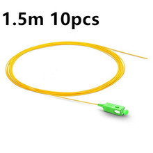 QIALAN 1.5m 10pcs SC APC fiber pigtail Simplex 9/125 G657A Single Mode  Fiber Optic Pigtail шнур оптический соединительный sc sc apc sm 9 125 simplex 3 м