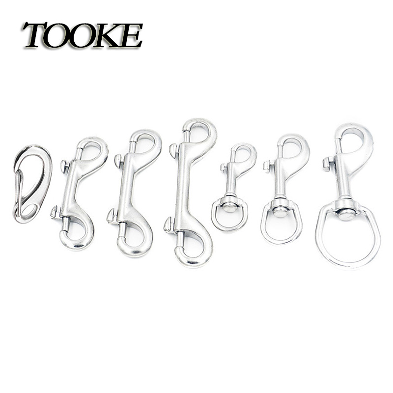 Scuba 70/90/100/116 MM Stainless Steel Egg Quick Link Carabiner Ended Bolt Snap Clip Hook BCD Accessories Diving Equipment(China)