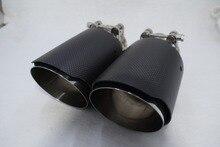 Здесь можно купить   Inlet51/54/57/60/63/80mm outlet76/89/101/114mm 304 Stainless Steel carbon fiber exhaust tip exhaust pipe muffler