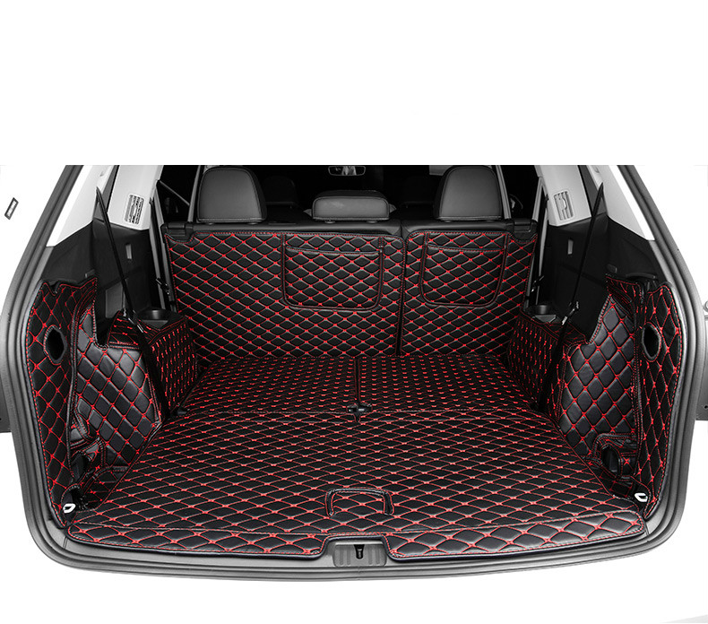 no odor full covered carpets waterproof non slip cargo carpets durable rugs special car trunk mats for Volkswagen Teramont/Atlasno odor full covered carpets waterproof non slip cargo carpets durable rugs special car trunk mats for Volkswagen Teramont/Atlas