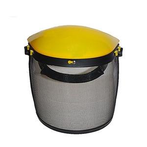 Image 3 - Металлическая Сетчатая Маска на все лицо, защитный козырек, защитный шлем, шляпа для бензопилы, щетки, резак, лесная газонокосилка, защитная маска для рабочей силы