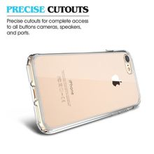 "Transparent TPU Case+HD Screen Protective Film For iPhone 7 7 Plus Clear Crystal Back Case Cover 4.7"" 5.5"" inch"