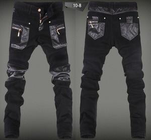 Image 4 - Nowe mody skinny spodnie skórzane faux skórzane dżinsy motocyklowe spodnie darmowa wysyłka 28 34 (mały rozmiar) A108