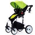 2016 de la Alta Calidad de Lujo Cochecito de Bebé De aleación de Aluminio plegable de la absorción de choque de Alta Paisaje Carro de Bebé Cochecito Infantil
