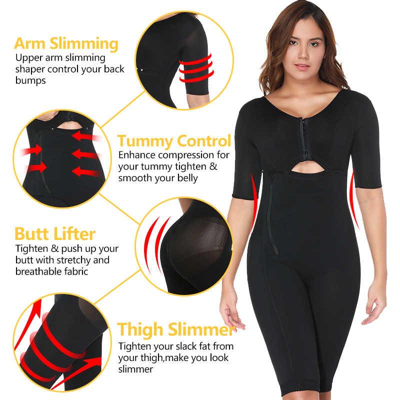 Plus Ukuran Pembakaran Lemak Full Body Shaper Pelangsing Baju Pemulihan Pasca Persalinan Pinggang Pelatih Butt Lifter Penurunan Berat Badan Korset