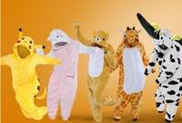 Kigurums Adult Pajamas Cosplay Costume Animal Onesie Sleepwear Stitch Pikachu Unicorn Sully Zebra Dinasour Panda skull stitch