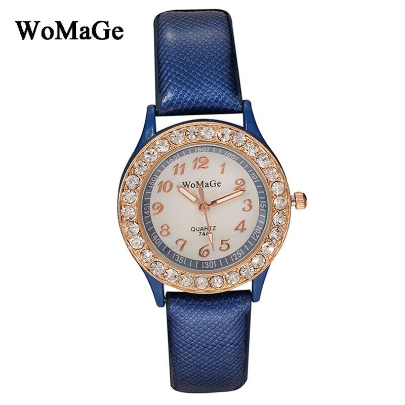 relogio sieviešu pulksteņi Top luksusa womage zīmolu lady modes kristāla rokassprādze skatīties 6 krāsu ādas siksnas analogais kvarca rokas pulkstenis