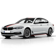 M Sport Door Side Stripe Skirt Sticker Hood Roof Rear Body Kit Decal Performance for BMW 1 3 5 Series F30 F31 F10 F11 G30 F20