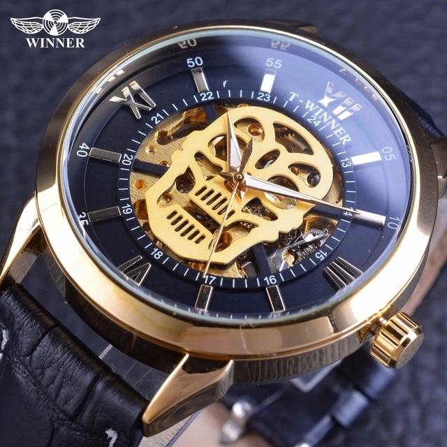 Часы виннер скелетон щит