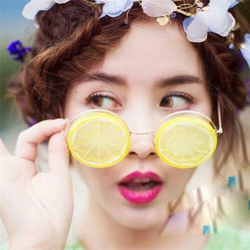 New Lemon Glasses Creative DIY Beach Wedding Photography Studio Photos Funny Sunglasses Glasses Props