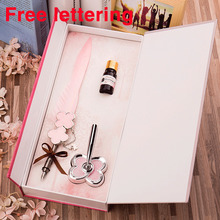 European Style Goose Quill Dip Pen Harry Potter Feather Set High Quality Fountain Gift For Girl Free lettering