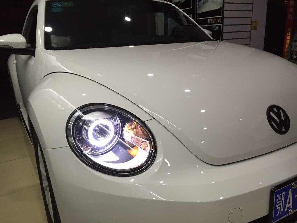 VW Beetle Headlights 35W Projector Lens kit 9005 9006 9007 H1 H7 H4 3.0 inch HID bi xenon car light source