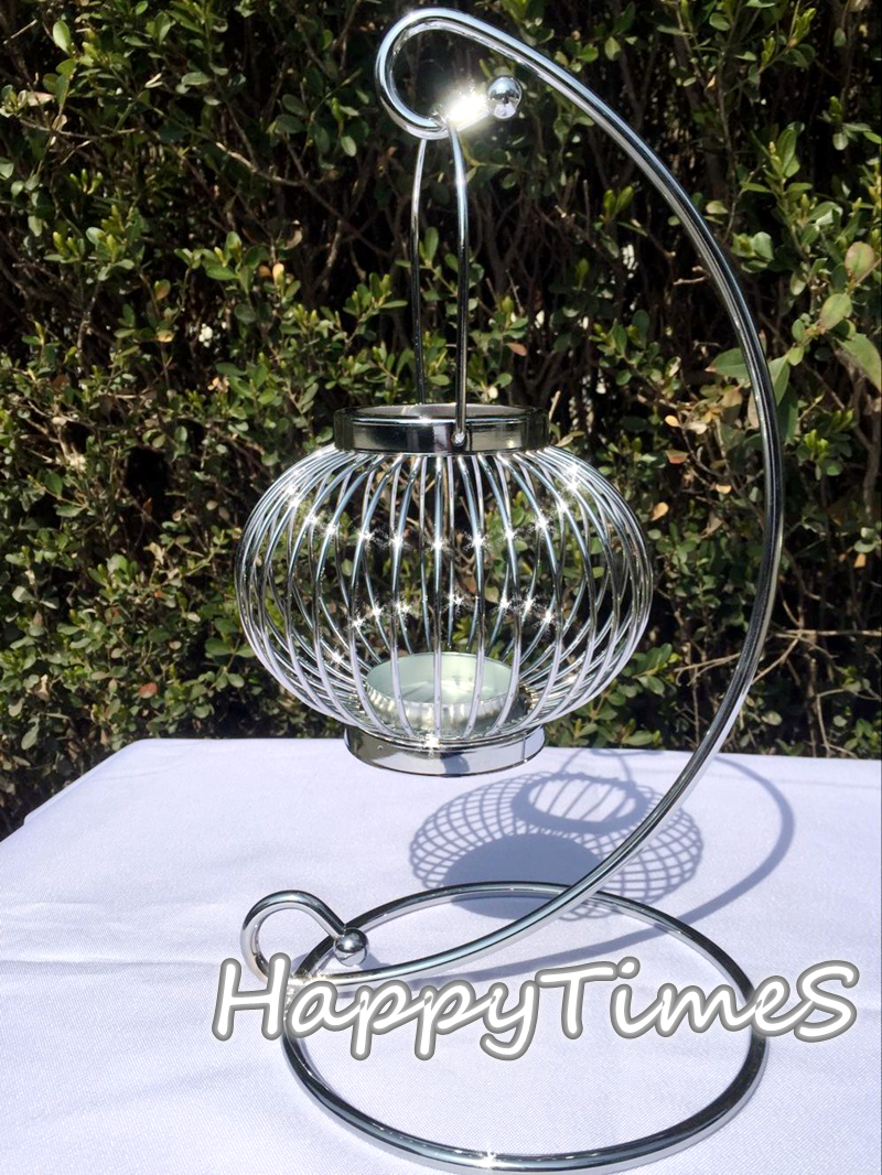 33 cm alta decoración de la boda cristal candelabros de cristal colgante de los titulares de