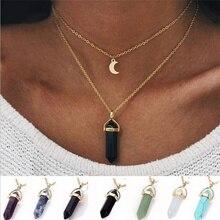 Большое ожерелье подвеска-шестиугольник ожерелье женские подарки горячая новинка