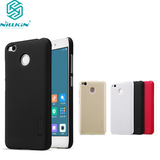 finest selection 3197a e67cd US $7.19 |XiaoMi redmi 4X case redmi 4X Pro cover NILLKIN Super Frosted  Shield hard matte back cover free screen protector for redmi 4 X-in Fitted  ...
