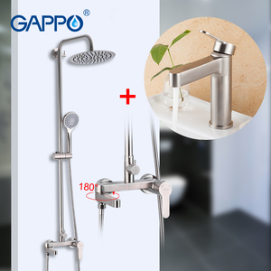 Image 1 - GAPPO shower faucets stainless steel bathroom shower waterfall faucet bathroom Rainfall shower set basin faucets torneira