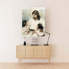 Let The Children Come to Me Jesus Christ Religious Wall Art Print Poster Artwork Virgin Mary Home Decor