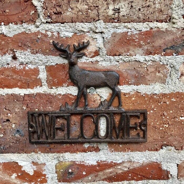 Une paire de Lovebirds bienvenue signe Greeter pieu de jardin en fonte par cadeaux & décor - 3